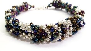 PandaHall Jewelry Making Tutorial Video--How to Make Beaded Chevron Bracelet