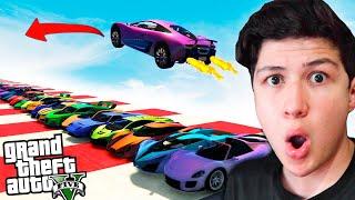¿Se Puede SALTAR Más de 100 AUTOS en GTA 5? Grand Theft Auto V - GTA V Misterios