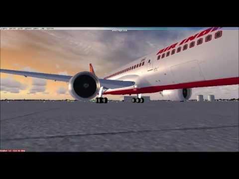 FSX Flights: Air India 112 (AI112) London Heathrow To Delhi With A Boeing 787 Dreamliner