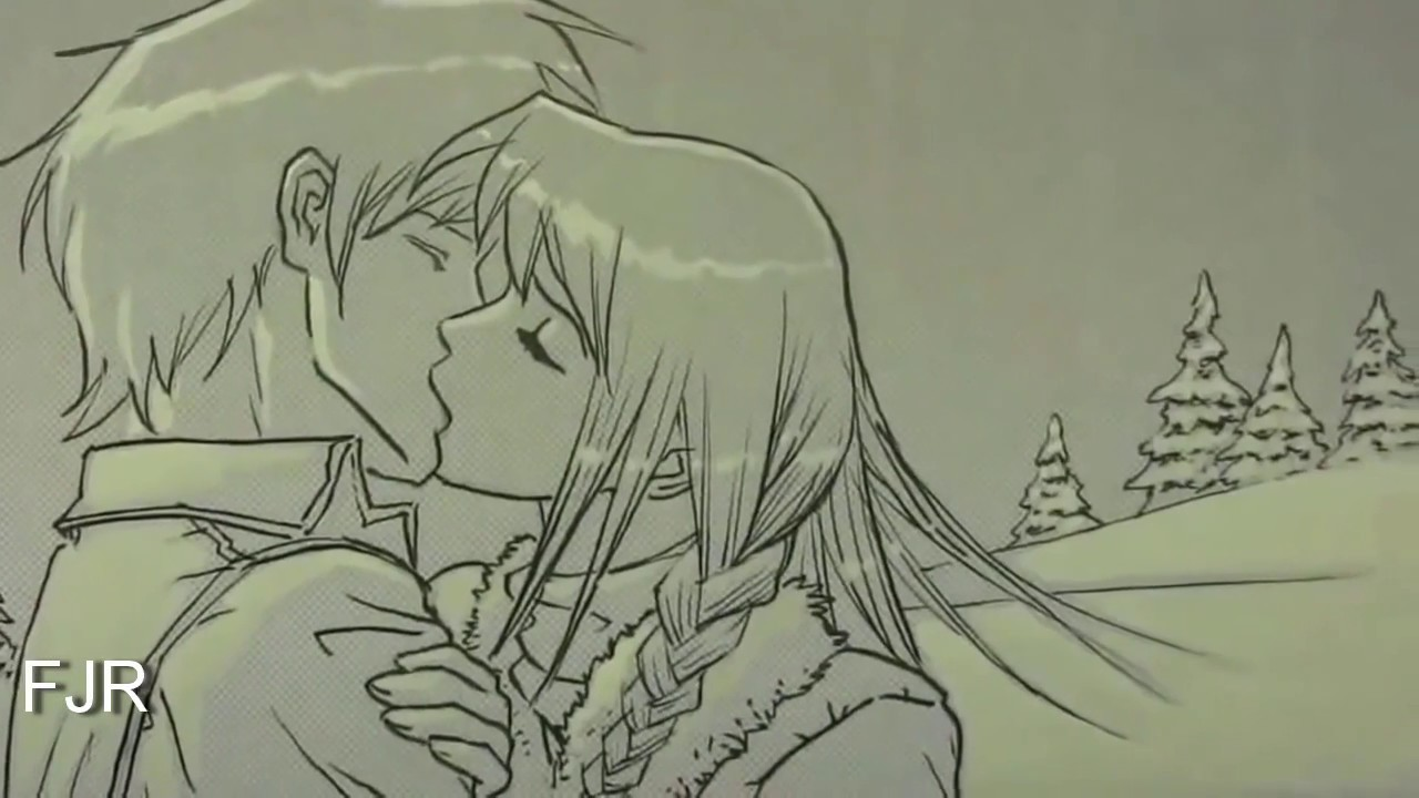 Gambar lukisan kartun cinta keren