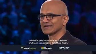 Satya Nadella talks about Natuzzi at the Microsoft's Ispire Event in Las Vegas