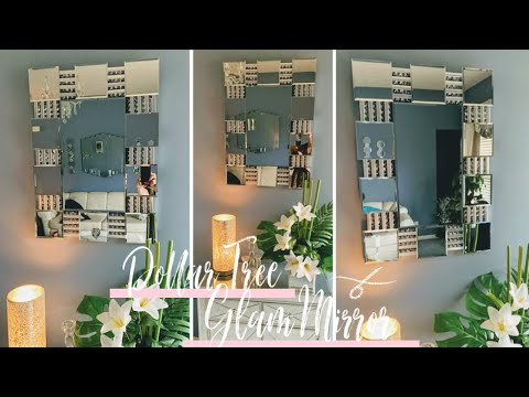 DIY Dollar Tree Large Glam Wall Mirror | Diy Wall Decor | Glam Room Decor | DIY Home Decor