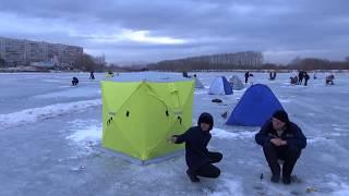 ☝▶ Зимняя рыбалка в черте города. Дельфин. Усолка. Павлодар. Казахстан