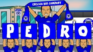 THE PEDRO STORY Pedro is my Name-O song Chelsea Man Utd transfer from Barcelona