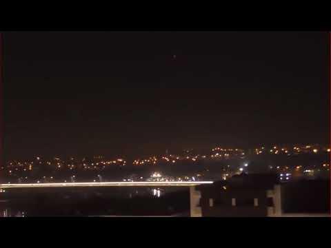 UFO 2017. Amazing UFO Sighting With Glowing Lights Over Rabat Morocco.
