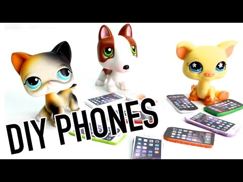 Miniature Apple IPhone Tutorial - DIY Cell Phone for LPS and Dolls