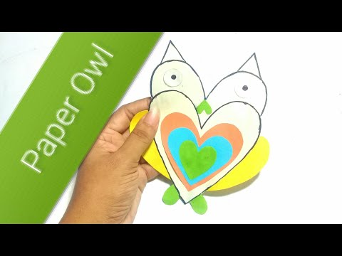 Paper Owl For Kids | Woman Garden