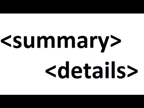 Learn HTMl Code: Details, Summary