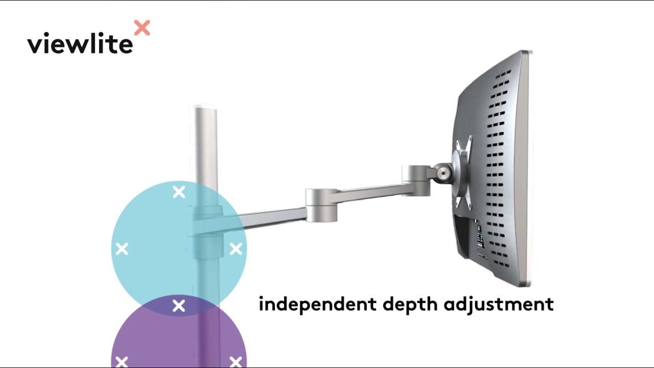 Viewlite monitor arm - desk 102   Dataflex