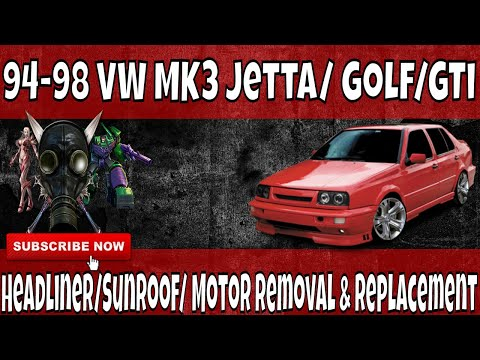How To Removel, Replace, Repair You Headliner and sunroof motor in A 93-99 MK3 VW Volkswagen Jetta