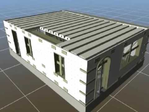 Flogen insulated concrete forms icf building animation for Icf residential construction