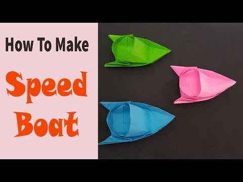 Paper Speed Boat Craft | How To Make Paper Boat | DIY Paper Boat