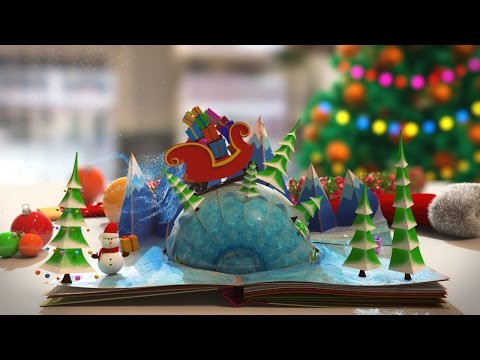 Animated Christmas Card Template - Magic Christmas Book