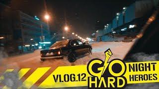 DRIFT VLOG 12 - NIGHT HEROES - STREET DRIFT TOYOTA CHASER ICE DRIFT DRIFT FAILS