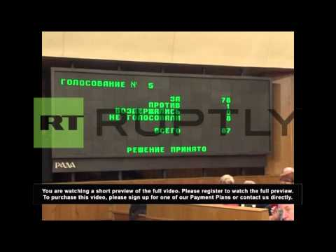 Ukraine: Crimean Parliament vote in favor of joining Russia