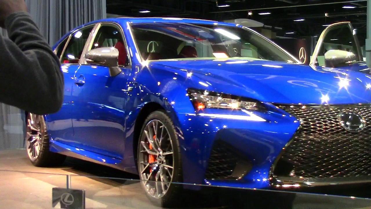 lexus gs f 2018 washington dc auto show 2017 youtube