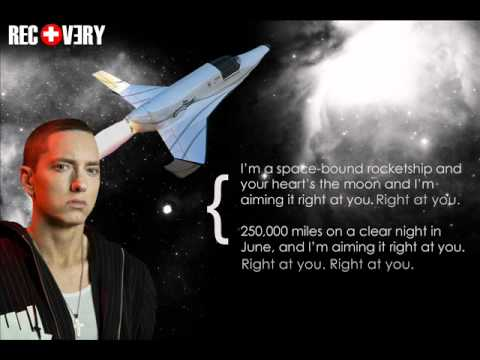 an analysis of space bound by eminem Eminem released space bound quite a while ago, but the deep meaning of these lyrics is still interesting, particularly in how they might connect to a.
