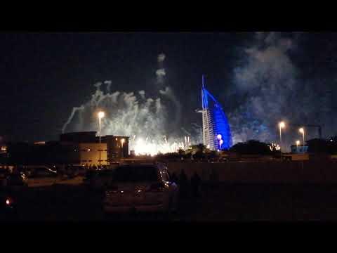 Burj Al Arab New Year fireworks 2020