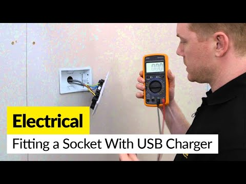 How to fit a Combined Twin 13 Amp Electrical Socket With USB Charger
