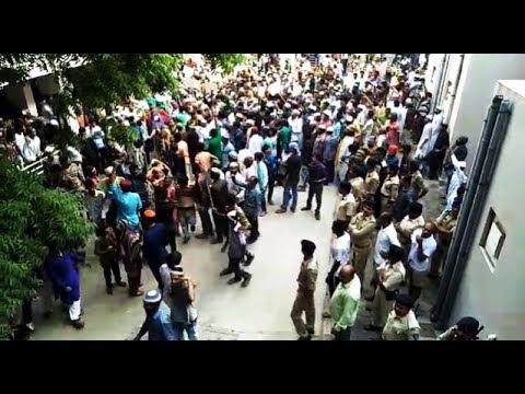 Muslim Community members protest against Rajkot Local don 'Sonu Dangar'