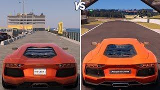 The Crew 2 vs Gran Turismo Sport - Lamborghini Aventador Gameplay Comparison HD