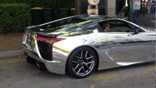 Lexus LFA wrapped in CHROME Revving, Great Exhaust sound Thumbnail