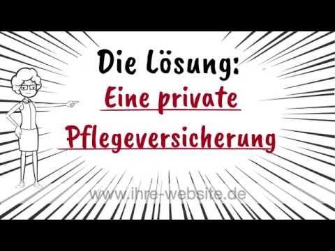 Die private Pflegeversicherung 2017 - Erklärfilm von www.amenico.de