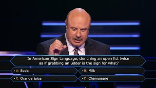 Dr. Phil Takes Issue With a Question - Who Wants To Be A Millionaire