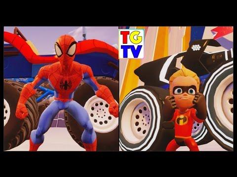 Spiderman & Dash Race Toy Box Speedway | Disney Infinity