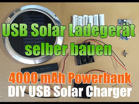 solar usb lader selber bauen diy solar usb charger power bank 4000 mah youtube. Black Bedroom Furniture Sets. Home Design Ideas