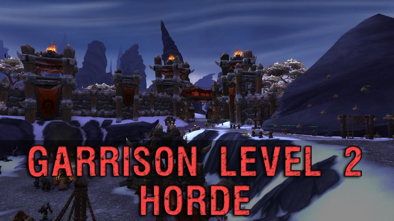 Garrison level 2 horde preview warlords of draenor youtube garrison level 2 horde preview warlords of draenor malvernweather Image collections