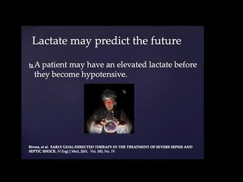 Lactate Loco:  the real reason lactate increases, and how to use lactate as a diagnostic test.