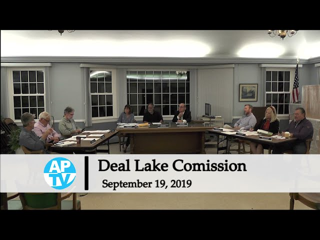 Deal Lake Commission Meeting - September 19, 2019
