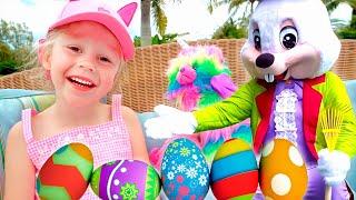 Nastya mengumpulkan telur besar dengan kejutan baru