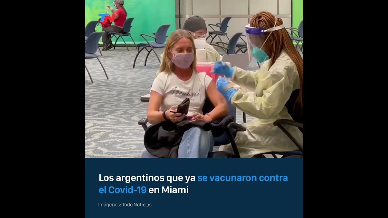 Los argentinos viajan a Miami y se vacunan contra el Covid-19 en el aeropuerto