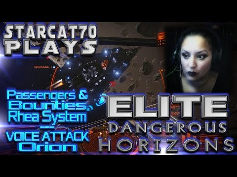 StarCat70 Plays | Elite Dangerous:  Horizons |Passengers & Bounties In Rhea System