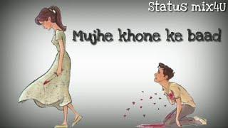 Tera Zikr - Darshan Raval - Sad Whatsapp Status Lyrics Video!