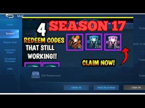 ML REDEEM CODE Season 17 (ML GIFT 2020) - YouTube