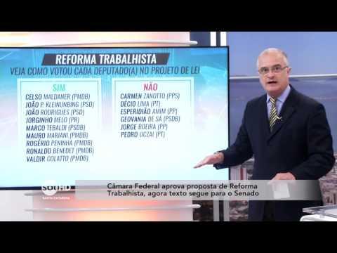 Câmara Federal aprova proposta de Reforma Trabalhista, agora texto segue para o Senado
