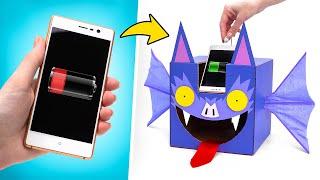 Как сделать картонную летучую мышь с зарядкой для телефона