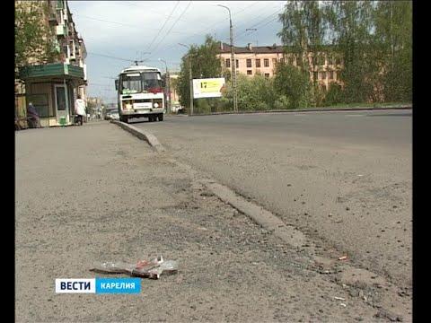Съёмочная группа Карельского ТВ проверила чистоту улиц Петрозаводска