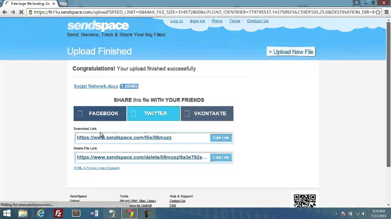 How to Use Sendspace