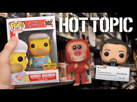 Hot Topic Funko Pop Hunting  Simpsons Aladdin Spider-Man and More