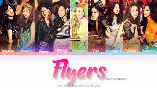 Girls' Generation (少女時代) Flyers Color Coded Lyrics (Kan/Rom/Eng)