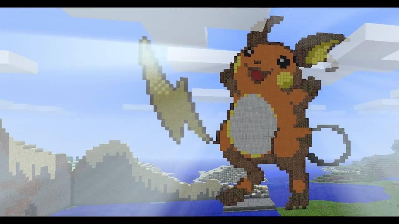 Minecraft Pixel Art Raichu Youtube