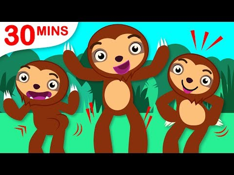 Can You Dance Like A Sloth? | The Sloth Dance | Car Chase and + Fun Songs by Little Angel