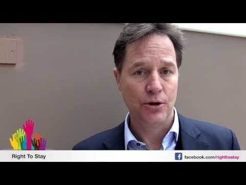 Nick Clegg about EU citizens living in the UK - French
