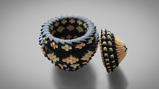 3D Origami Pot Tutorial