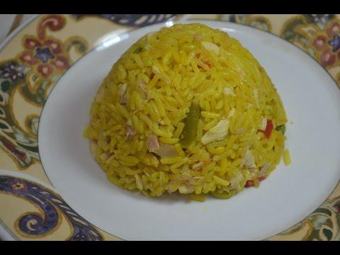 como hacer arroz amarillo con atun de lata