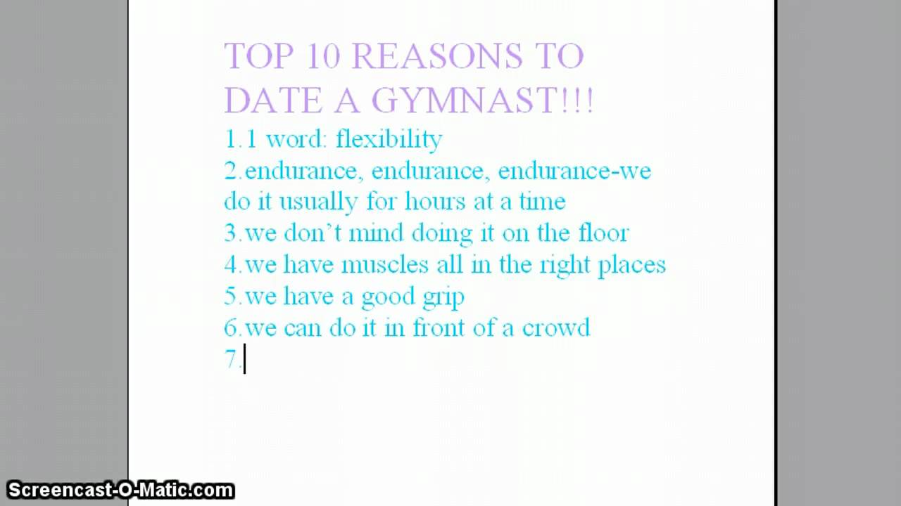 Reasons to date a gymnast